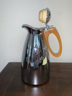 ALFI 1 L. Vacuum Insulated Thermos Coffee Carafe Orange Hand