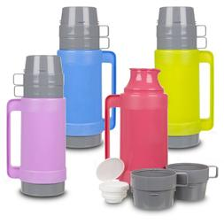 1L Insulated Hot & Cold Drink Food Vacuum Camping Bottle Lun