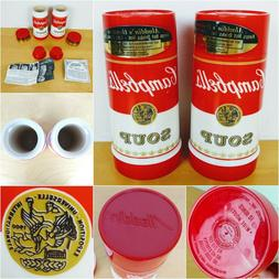 2 Campbells Soup 10oz Aladdin Thermos Wide Mouth Hot Cold Mu