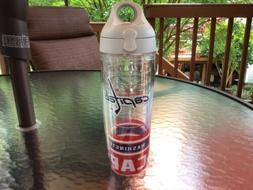 24 oz water bottle with red lid