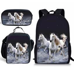 Showudesigns 3 Pieces Set School Backpack Bookbag+Small Lunc