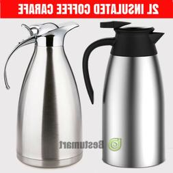 68oz/2L Stainless Steel Vacuum Insulated Thermal Carafe Coff