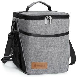 9L Insulated Lunch Bag For Women Men Thermos Cooler Adults T