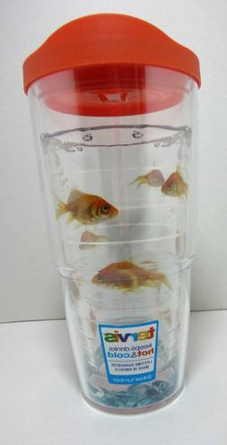 Tervis 1078928 Goldfish Tumbler with Wrap and Orange Lid 24o