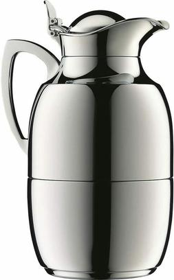 Alfi Juwel Chrome Steel Glass Vacuum Insulated Thermos Caraf