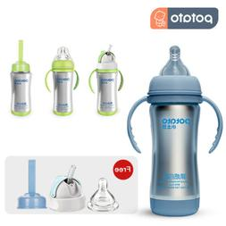POTATO Baby Bottles Flask Vacuum Insulated Water Bottles Wit