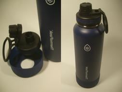BLUE Takeya 40 oz Insulated Thermos Stainless Steel Water Bo