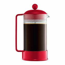 Bodum Brazil French Press Coffee Maker 34 Ounce 1 Liter Red