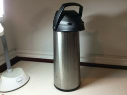 COFFEE DISPENSER AIR POT THERMOS; THERMAL HOT OR COLD BEVERA