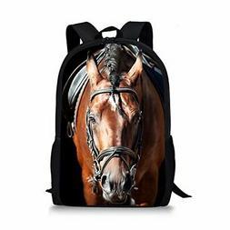 Showudesigns Cool Crazy Horse Backpack for Children Boys Gir