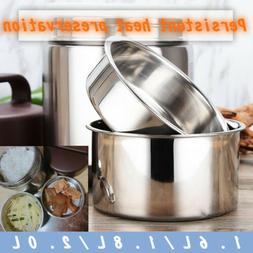 Food Container Vacuum Insulated Lunch Box 3 Tier Jar Hot The