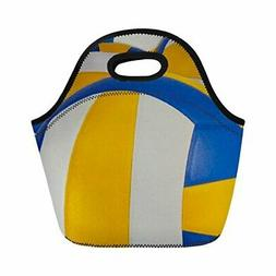 Coloranimal Funny Volleyball Pattern Neoprene Lunch Bag for