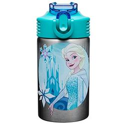 Zak Designs Frozen 15.5oz Stainless Steel Kids Water Bottle