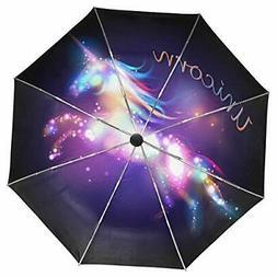 Wamika Galaxy Unicorn Umbrella Automatic Open Close Windproo
