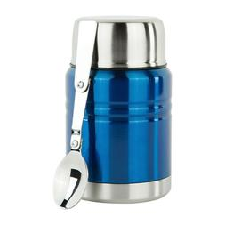 Insulated Food Thermos & Meal Container with Collapsible Spo
