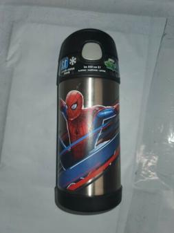 Kids 12 oz Spiderman Thermos with Straw.