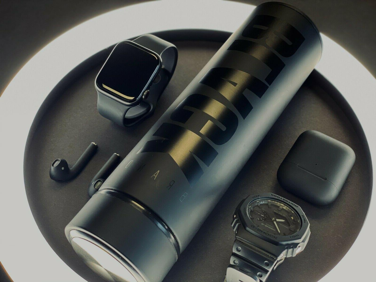 16 oz Vacuum Steel Thermos Cup Mug BLACK BRAND