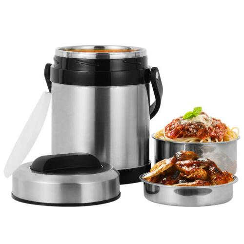 2.2L Insulated Lunch Box Stainless