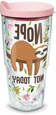 Tervis 24 oz. Sloth Nope Not Today Tumbler With Lid 24 oz. T