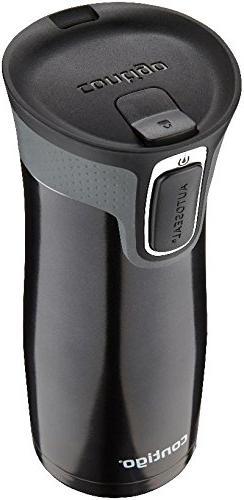 Contigo Autoseal Travel Tumbler with Easy-Clean Lid, Black,