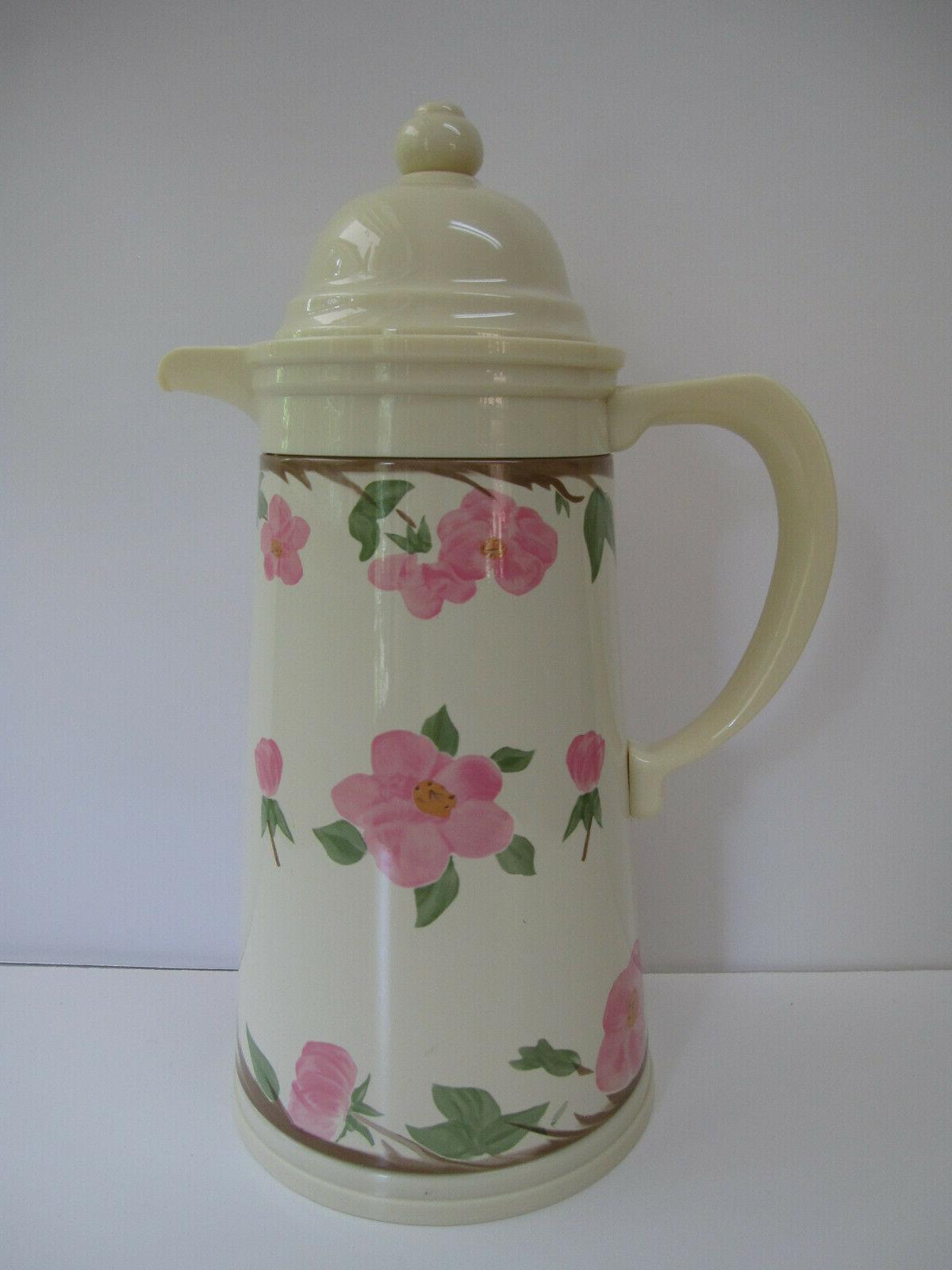 Franciscan Rose Carafe Coffee Butler Tea Server Thermos NEW