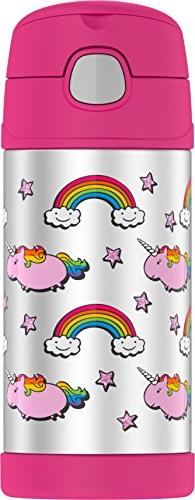 Thermos Ounce Bottle, Fat Unicorn