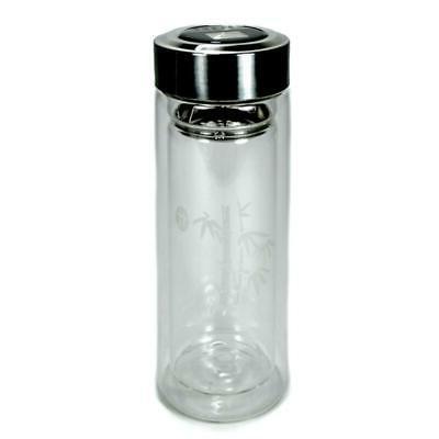 INSULATED GLASS TEA 9oz 270ml Double Travel Lid
