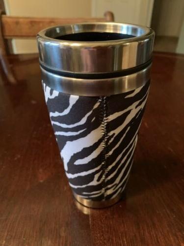 Karen Horton Travel Mug Wetsuit Zebra
