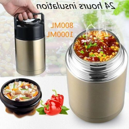 Large Capacity Thermos Lunch Box Portable Food
