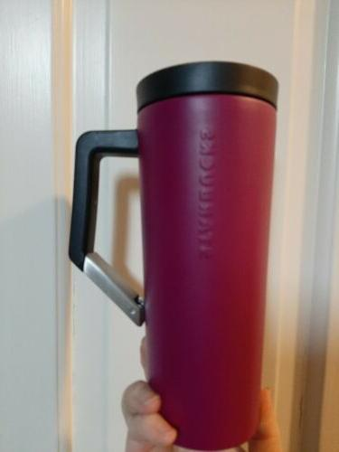 magenta vacuum stainless steel tumbler clip on