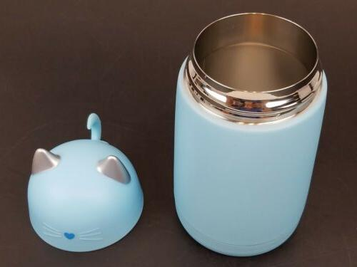New Cat Thermos Mug, Drinkware Bottle 11.16oz