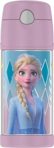 NWT FROZEN Disney Thermos Funtainer 12 OZ Pink Insulated Dri