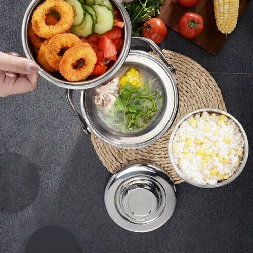 Vacuum 3 Thermos Food Container Stainless Steel