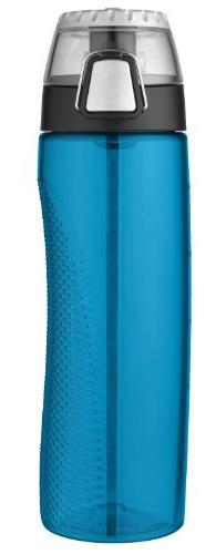 Thermos Teal Hydration Bottle with Rotating Meter on Lid - 2