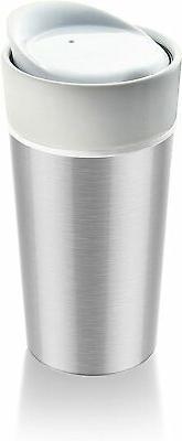 Asobu Thermo Steel Tumbler, 14-Ounce, Silver