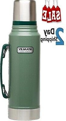 thermos classic vacuum bottle hammertone green 1