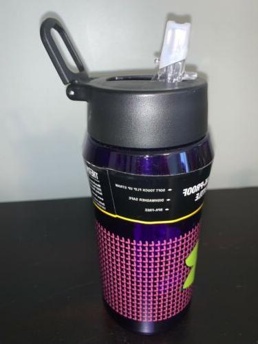 Under Armour Thermos 18 oz Hydration Flip Top purple/green logo M