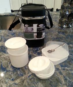 Lunch Thermos Jar Hot Cold Food Lunch Container 3 Compartmen