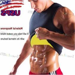 Mens Thermo Vest for Weight Loss Sweat Body Shaper Tummy Con