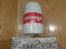 NEW SUPREME X THERMOS STAINLESS KING FOOD JAR + SPOON WHITE