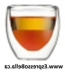Bodum PAVINA Glass Espresso Cups, double wall, extra small,