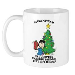 CafePress Peanuts Biggest Present Under Th 11 oz Ceramic Mug