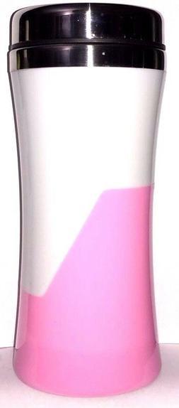Pink Coffee Tea TRAVEL MUG To Go Tumbler Vacuum THERMAL Flas