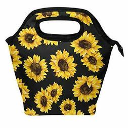Wamika Spring Sunflowers Retro Flowers Lunch Bag Boxes Tote