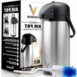 Thermal Coffee Airpot - Beverage Dispenser  By Vondior - Sta