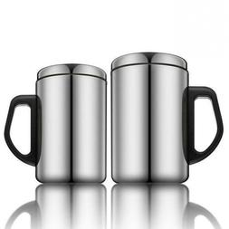 Thermos Cup with Handle Stainless Steel Mug Camping Travel P