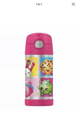 Thermos Shopkins Funtainer Stainless Steel Bottle - Pink