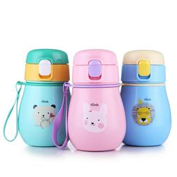 Toddler Thermos Water Bottle Cartoon Print Stainless Steel C