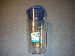 Tervis Tumbler, 24 oz with Travel Lid, Clear,  New, with Log