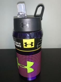 Under Armour Thermos 18 oz Hydration Bottle Straw Flip Top p